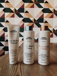Набор для увлажнения и восстановления волос Silki Moisture Shampoo + Damage Control Conditioner + Silky Moisture Treatment